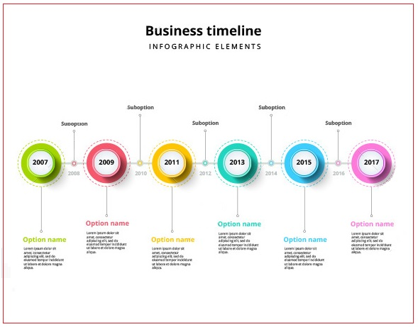 Business Timeline Template   Free Printable Pdf And Excel