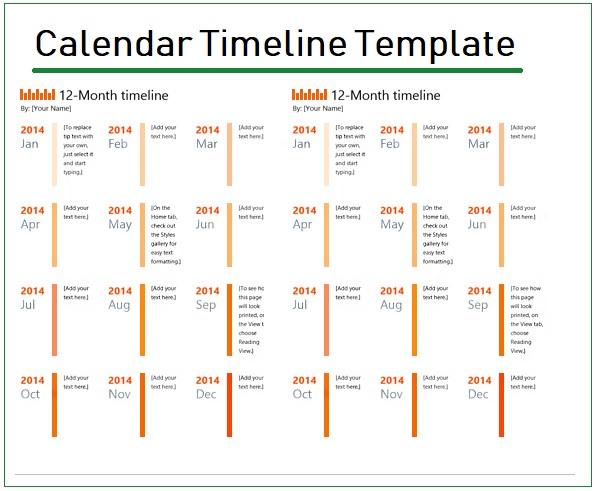 12 month timeline