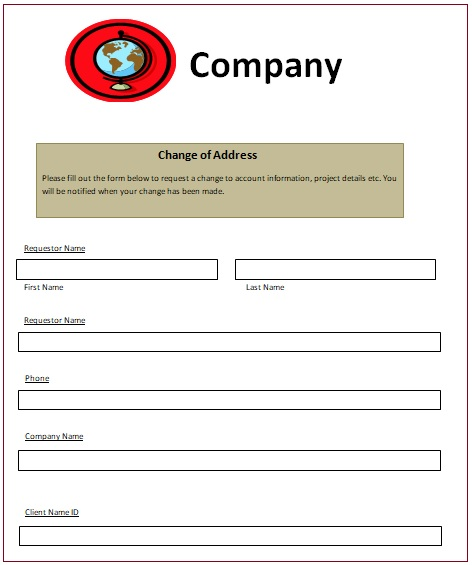 Change Of Address Notice Templates Free Word Excel PDF - Change of address template word