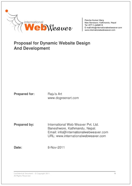 Website Design Proposal Templates   Printable Pdf  Word