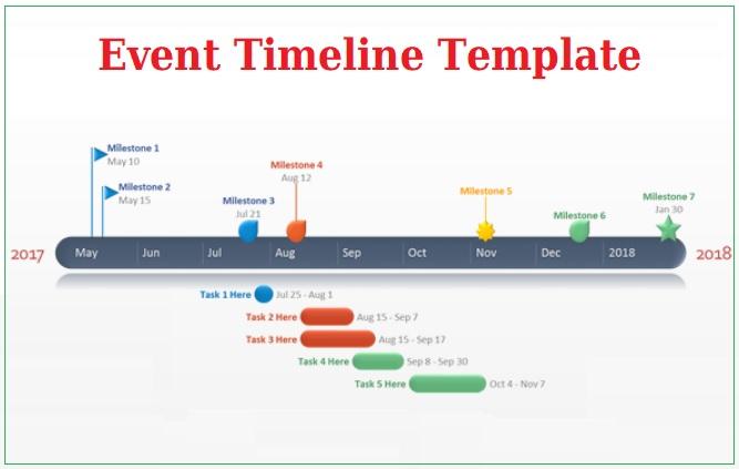 Event Timeline Template Free Printable PDF Excel Word - Event timeline template excel