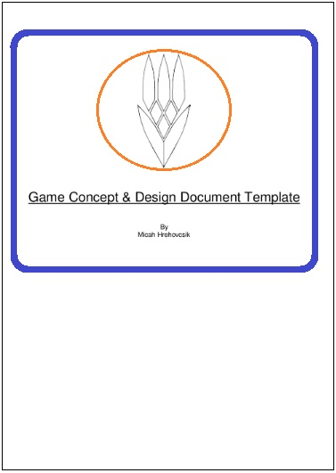 game design document template 2 printable word and pdf formats. Black Bedroom Furniture Sets. Home Design Ideas