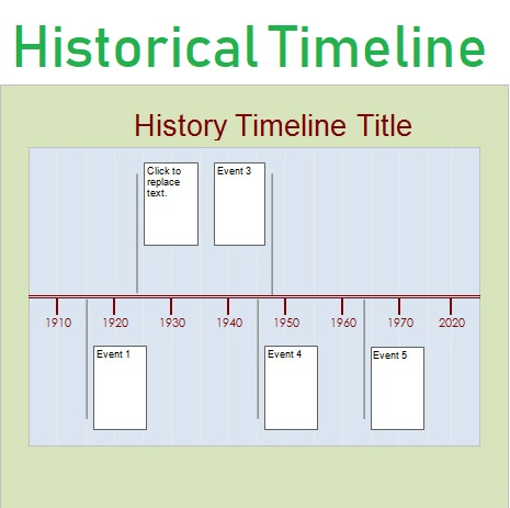 Historical Timeline Template   Free Printable Pdf Excel  Word