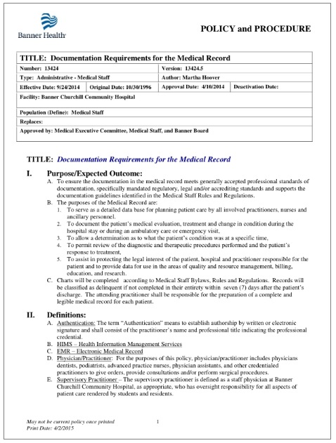 Medical Record Documentation Templates 8 Free Printable Pdf