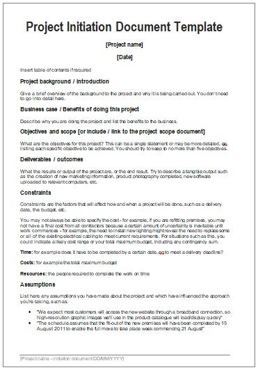 startup project templates 3 printable pdf word formats. Black Bedroom Furniture Sets. Home Design Ideas