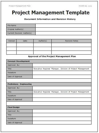 Project Management Templates | 4+ Printable Word and PDF Formats