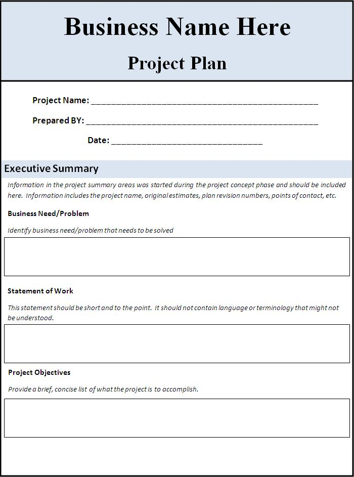 Project Planning Template Word  Project Plan Word Template