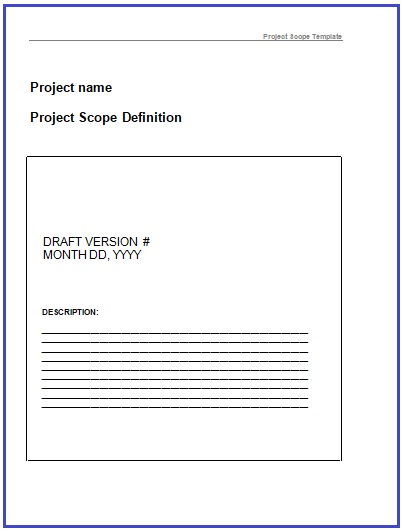 Project Scope Templates   10+ Printable Word and PDF Formats
