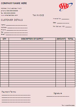 Tax-Invoice-Template Tax Year End Letter Template on write offs, planning do list, planning checklist,