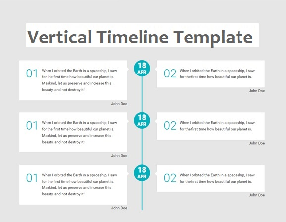 vertical timeline templates