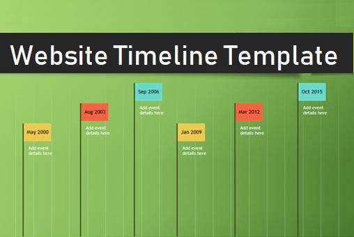 website timeline templates