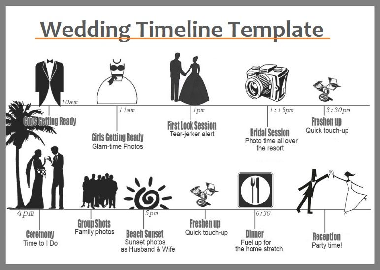 Wedding Timeline Templates 4 Free Word Excel PDF