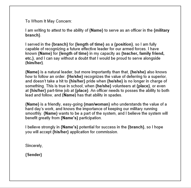Sample Letter Of Character from www.sampleformats.org