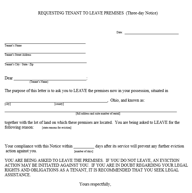 Eviction Notice Template Word from www.sampleformats.org