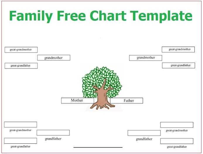 Family Tree Chart Templates   Free Word Excel  Pdf Formats