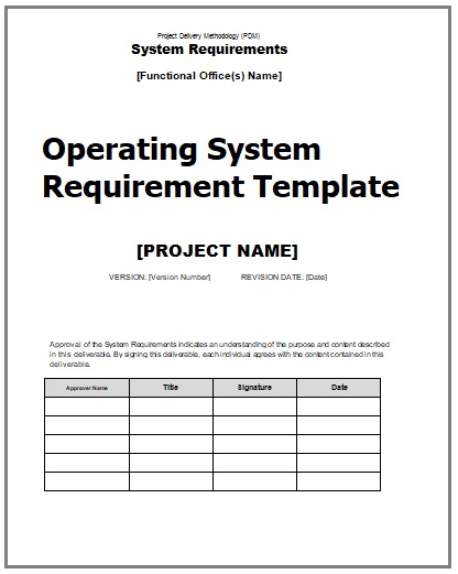 System development documentation templates 3 word pdf free system development documentation template maxwellsz