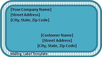 5 Mailing Label Templates Free Printable Word Pdf Formats