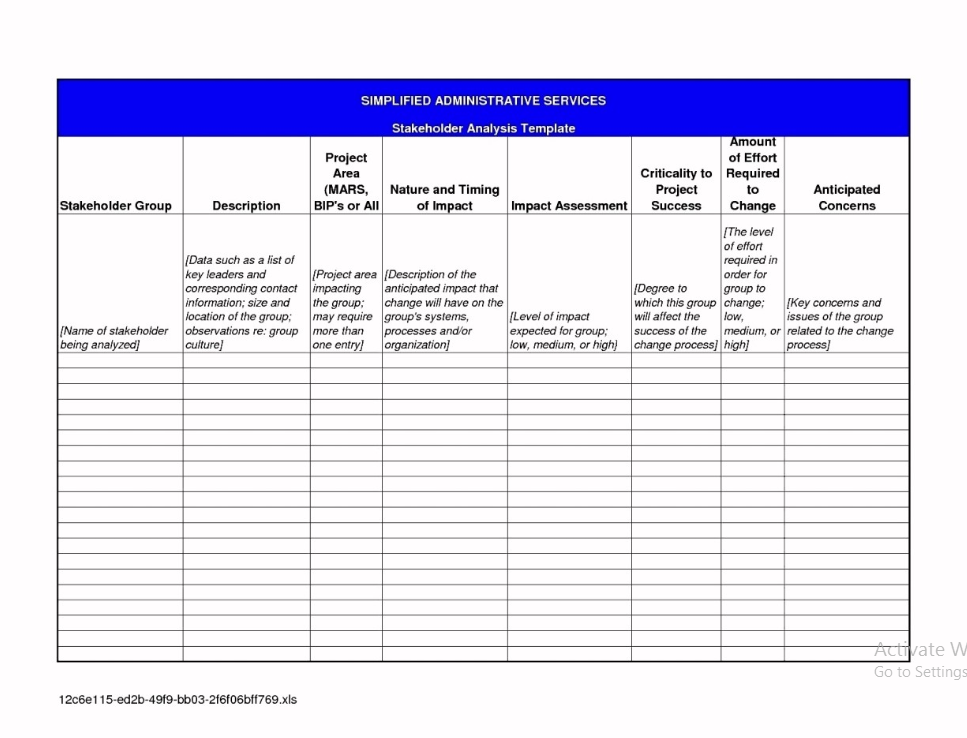 4 impact assessment template free printable pdf excel for Change impact assessment template