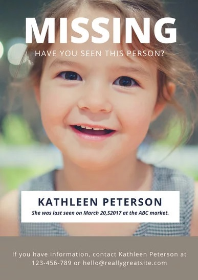 11+ Missing Person Poster Templates | Free Printable Word & PDF