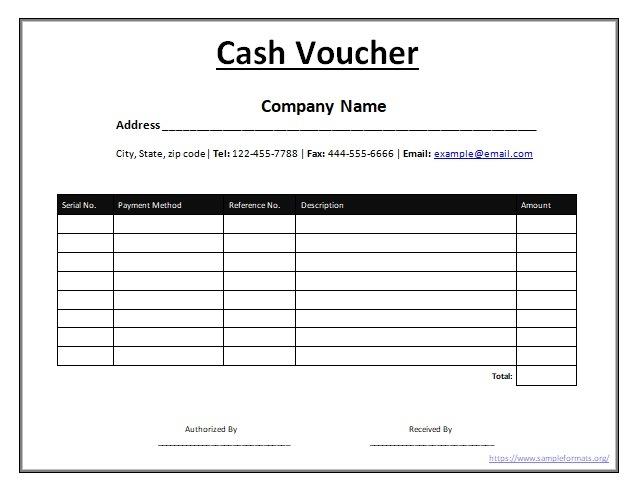 Cash Voucher Templates 11 Free Printable Word Excel Pdf Samples